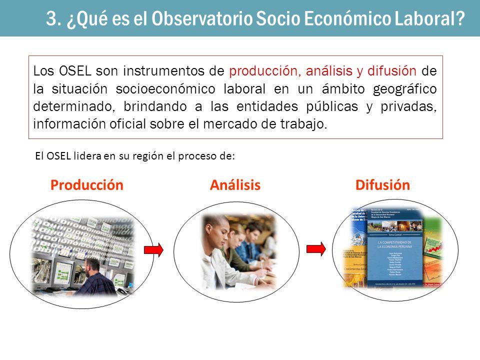 1. Los OSEL 3. ¿Qué es el Observatorio Socio Económico Laboral