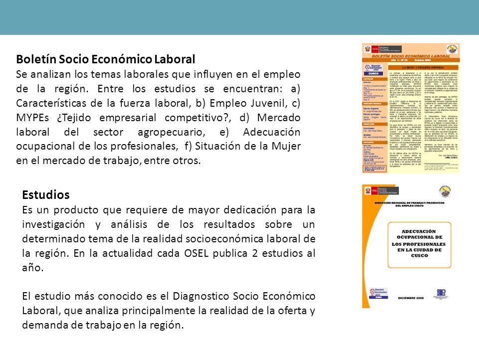 Boletín Socio Económico Laboral