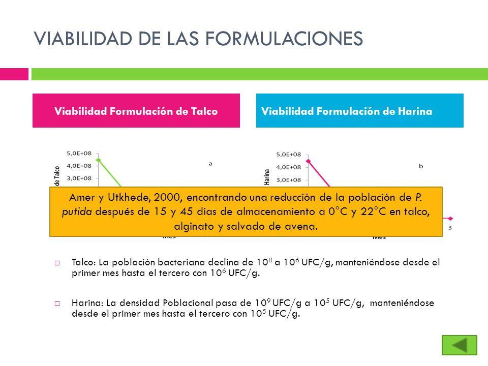 VIABILIDAD DE LAS FORMULACIONES