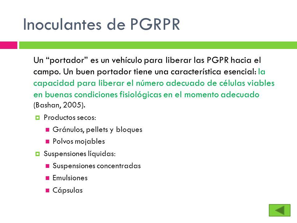Inoculantes de PGRPR