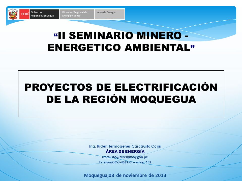 II SEMINARIO MINERO - ENERGETICO AMBIENTAL