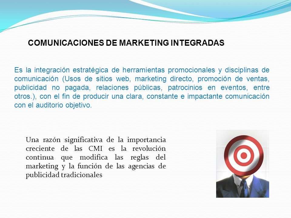 COMUNICACIONES DE MARKETING INTEGRADAS
