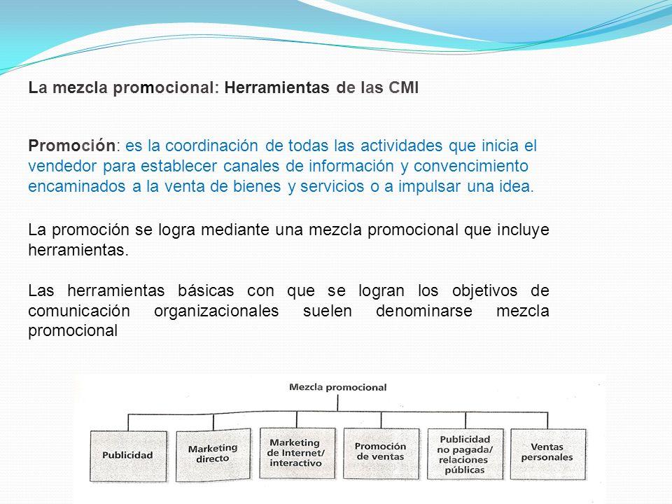 La mezcla promocional: Herramientas de las CMI
