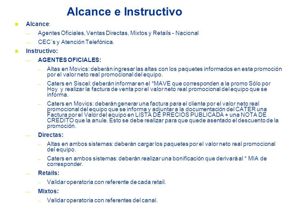 Alcance e Instructivo Alcance: