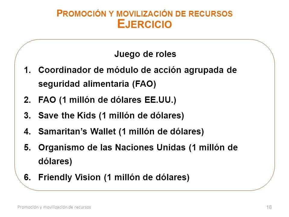 Promoción y movilización de recursos