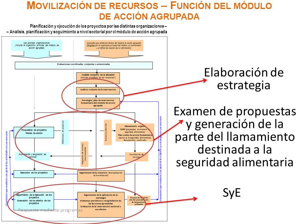 Movilización de recursos – Función del módulo de acción agrupada