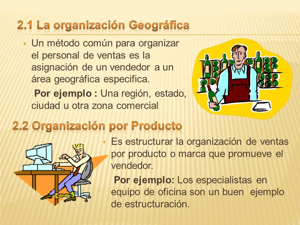2.1 La organización Geográfica