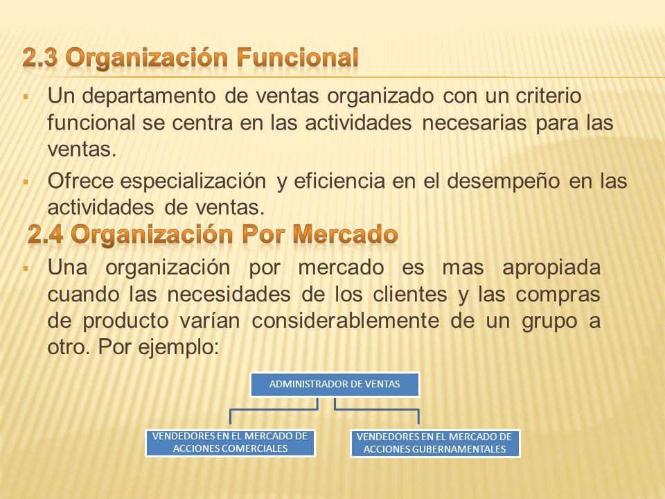 2.3 Organización Funcional