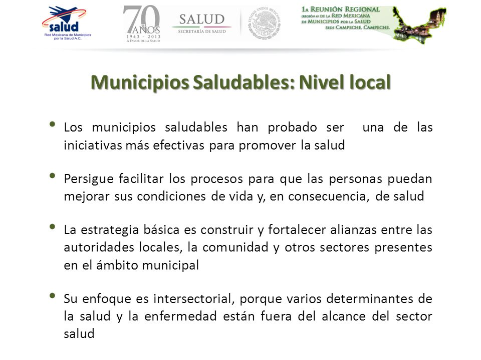 Municipios Saludables: Nivel local