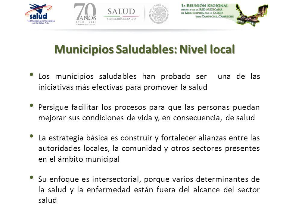 Municipios Saludables: Nivel local