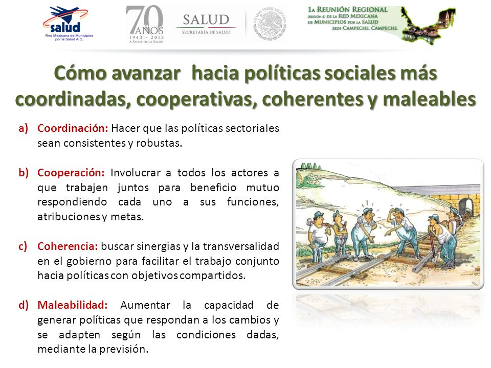 Cómo avanzar hacia políticas sociales más coordinadas, cooperativas, coherentes y maleables