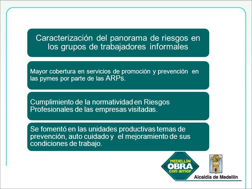 Caracterización del panorama de riesgos en los grupos de trabajadores informales