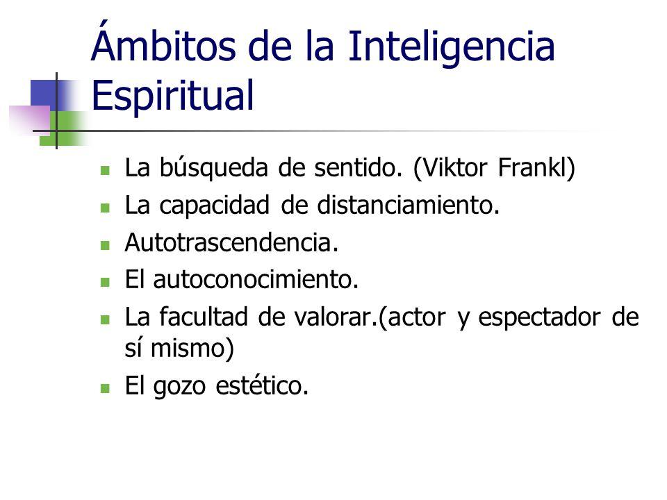 Ámbitos de la Inteligencia Espiritual