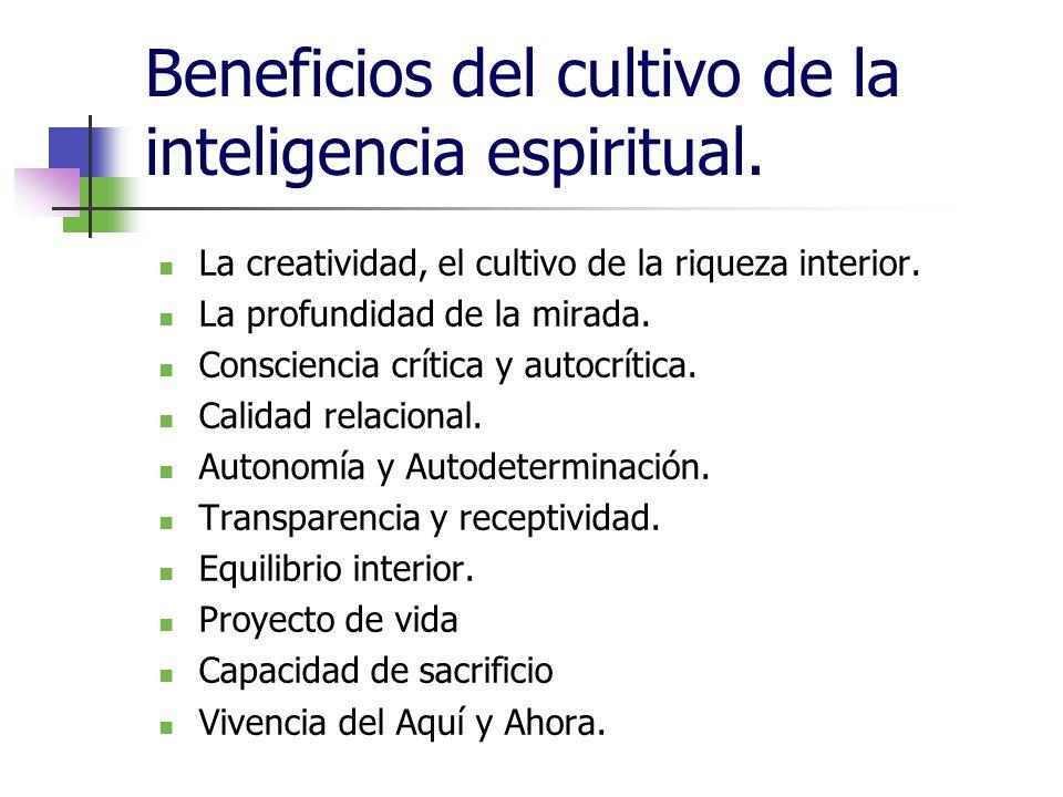 Beneficios del cultivo de la inteligencia espiritual.