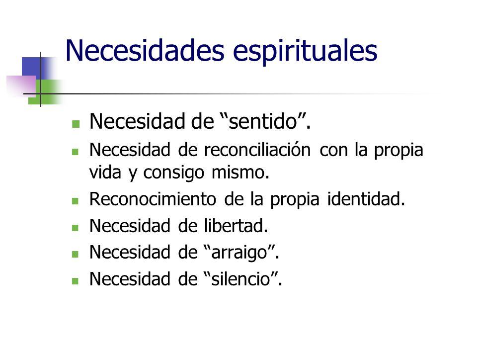 Necesidades espirituales