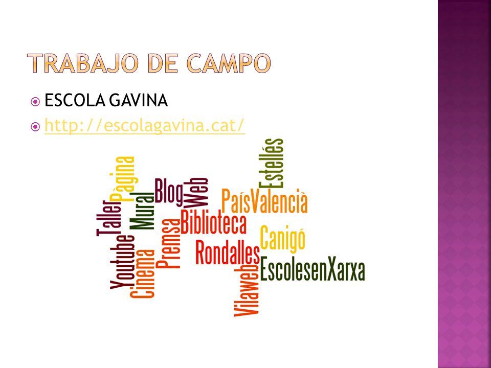 Trabajo de campo ESCOLA GAVINA http://escolagavina.cat/