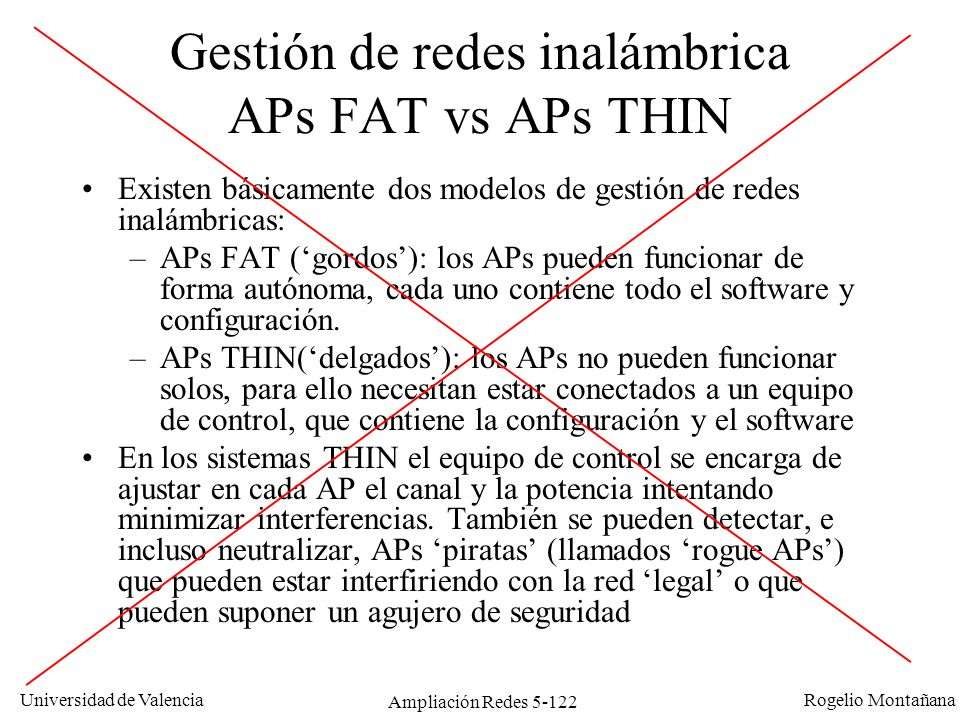 Gestión de redes inalámbrica APs FAT vs APs THIN