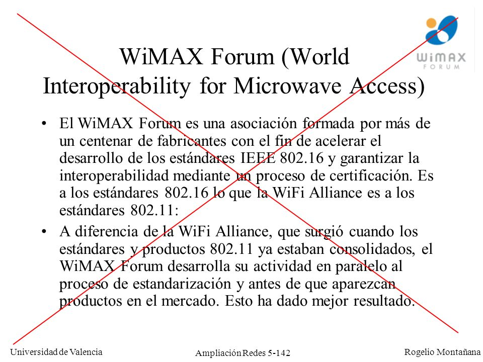 WiMAX Forum (World Interoperability for Microwave Access)