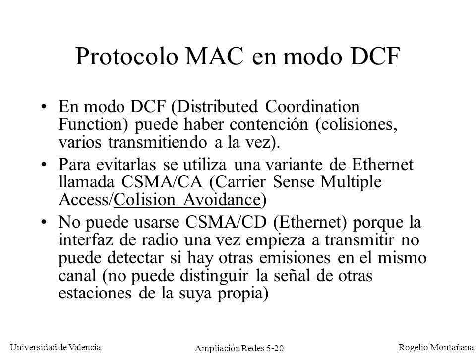 Protocolo MAC en modo DCF