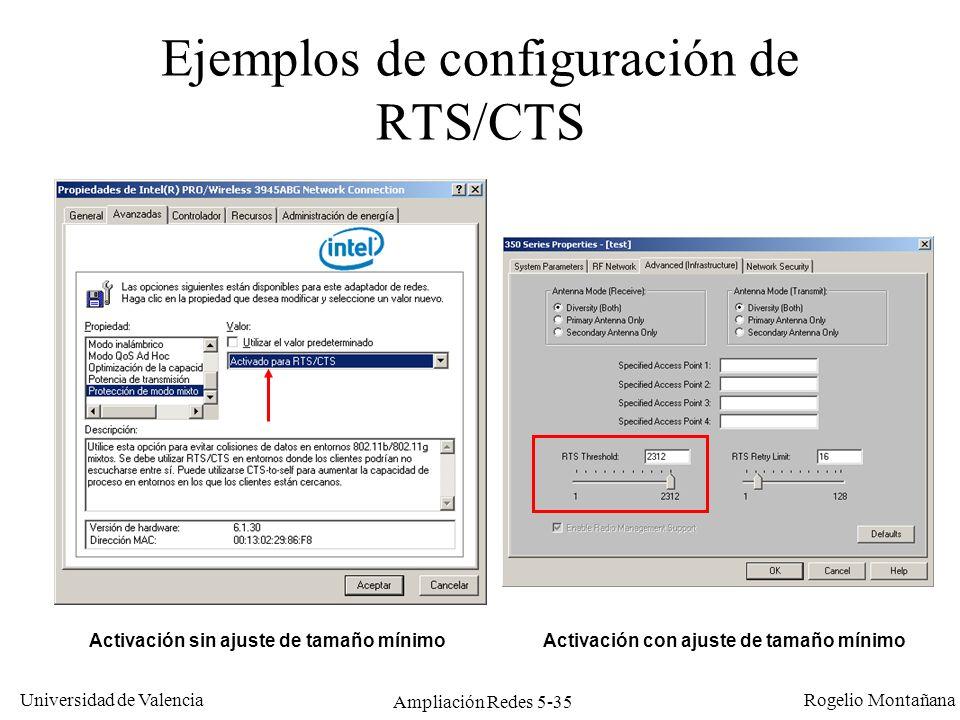 Ejemplos de configuración de RTS/CTS