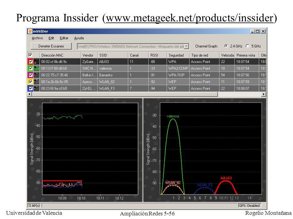Programa Inssider (www.metageek.net/products/inssider)