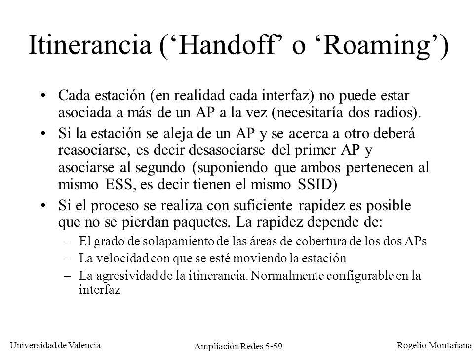 Itinerancia ('Handoff' o 'Roaming')