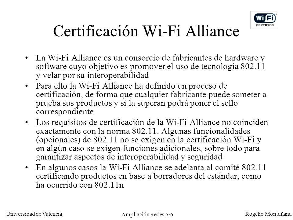 Certificación Wi-Fi Alliance