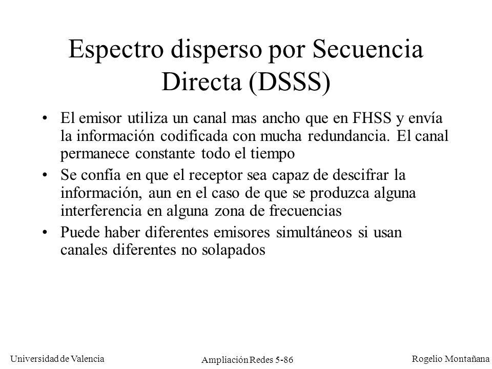 Espectro disperso por Secuencia Directa (DSSS)