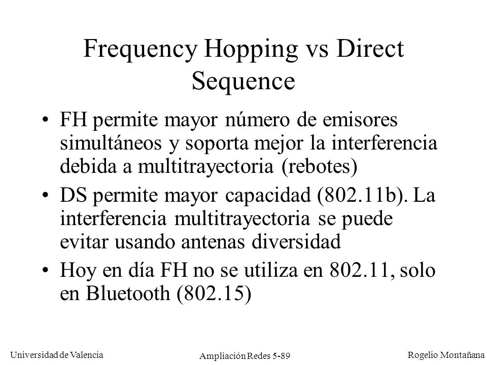 Frequency Hopping vs Direct Sequence