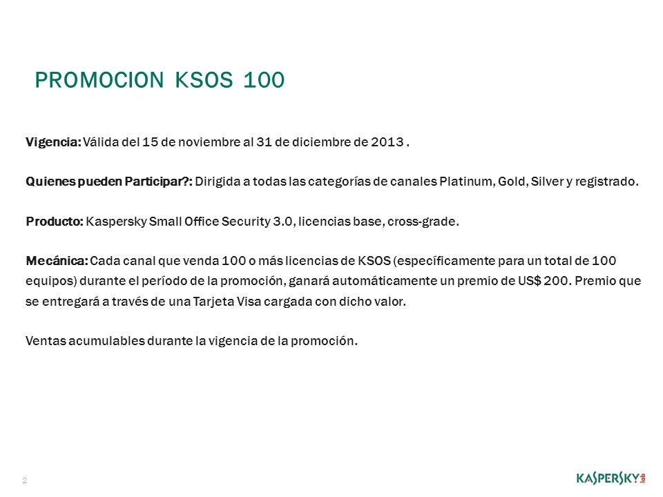 PromoCION Ksos 100
