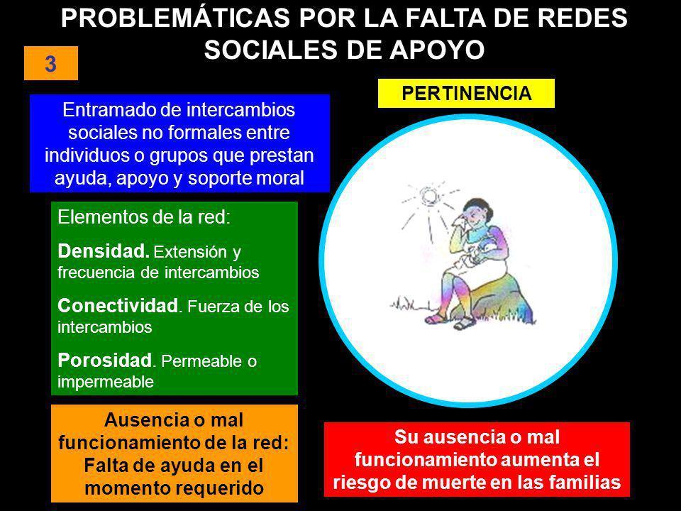 PROBLEMÁTICAS POR LA FALTA DE REDES SOCIALES DE APOYO