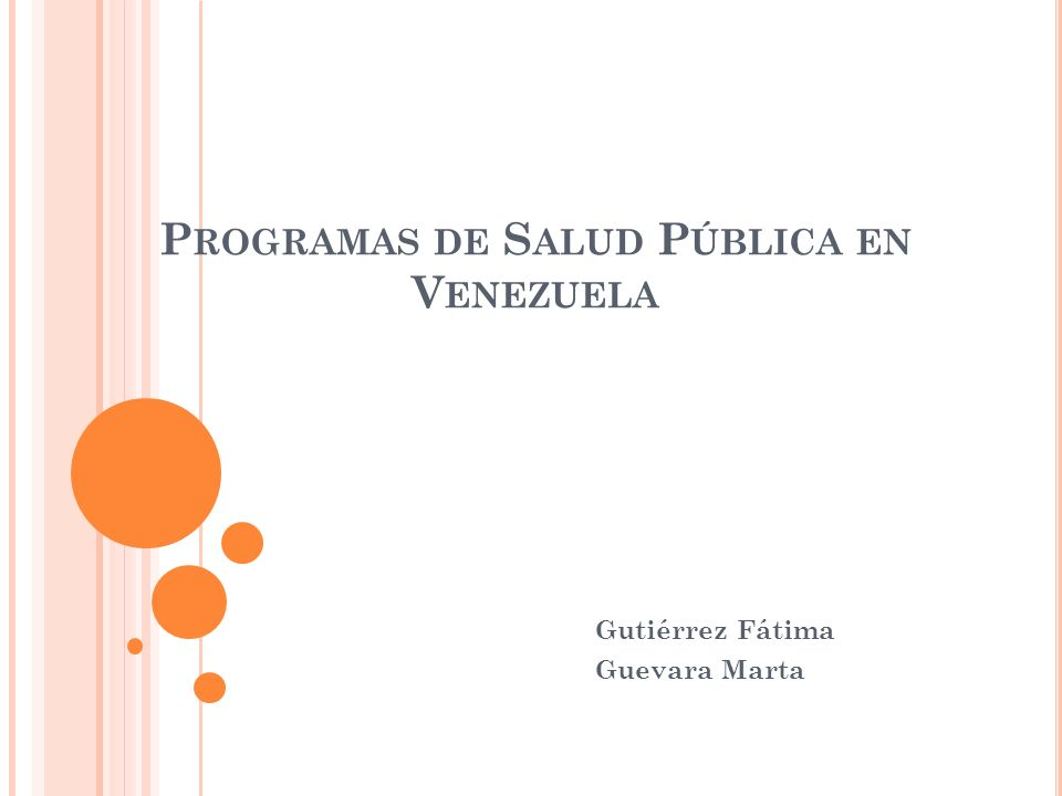 Programas de Salud Pública en Venezuela