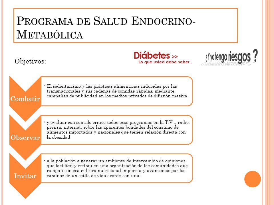 Programa de Salud Endocrino-Metabólica
