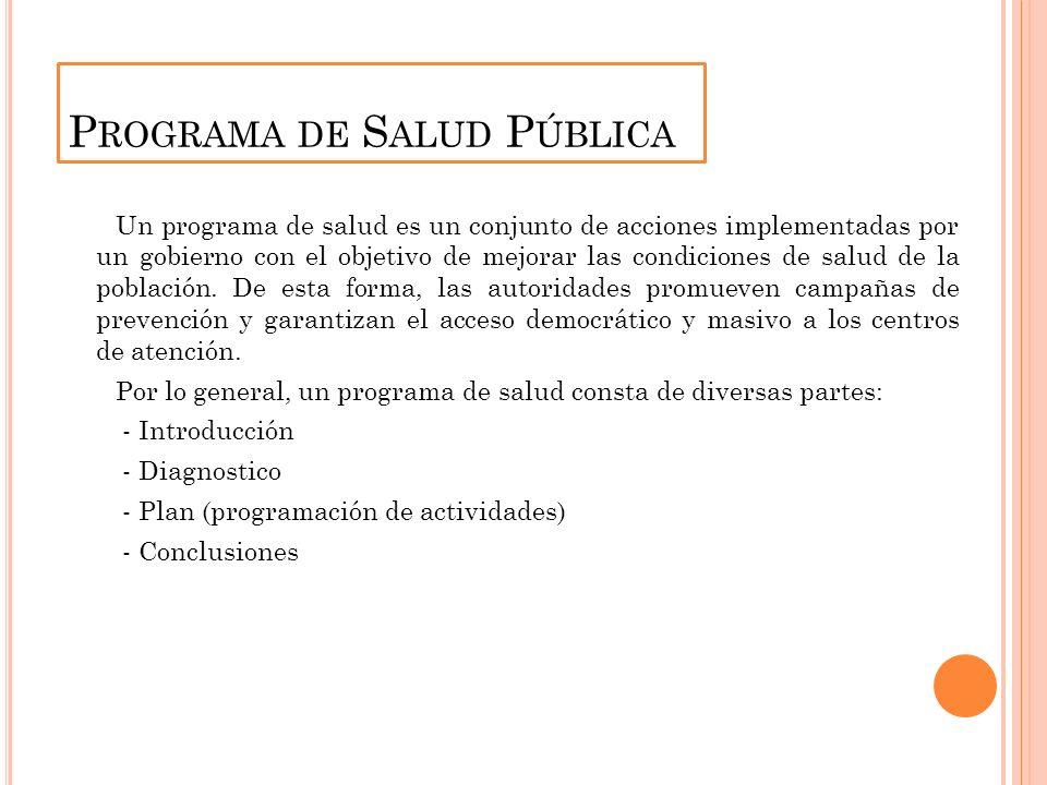 Programa de Salud Pública
