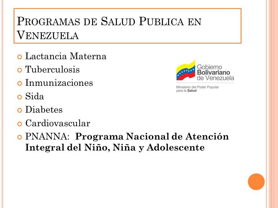 Programas de Salud Publica en Venezuela
