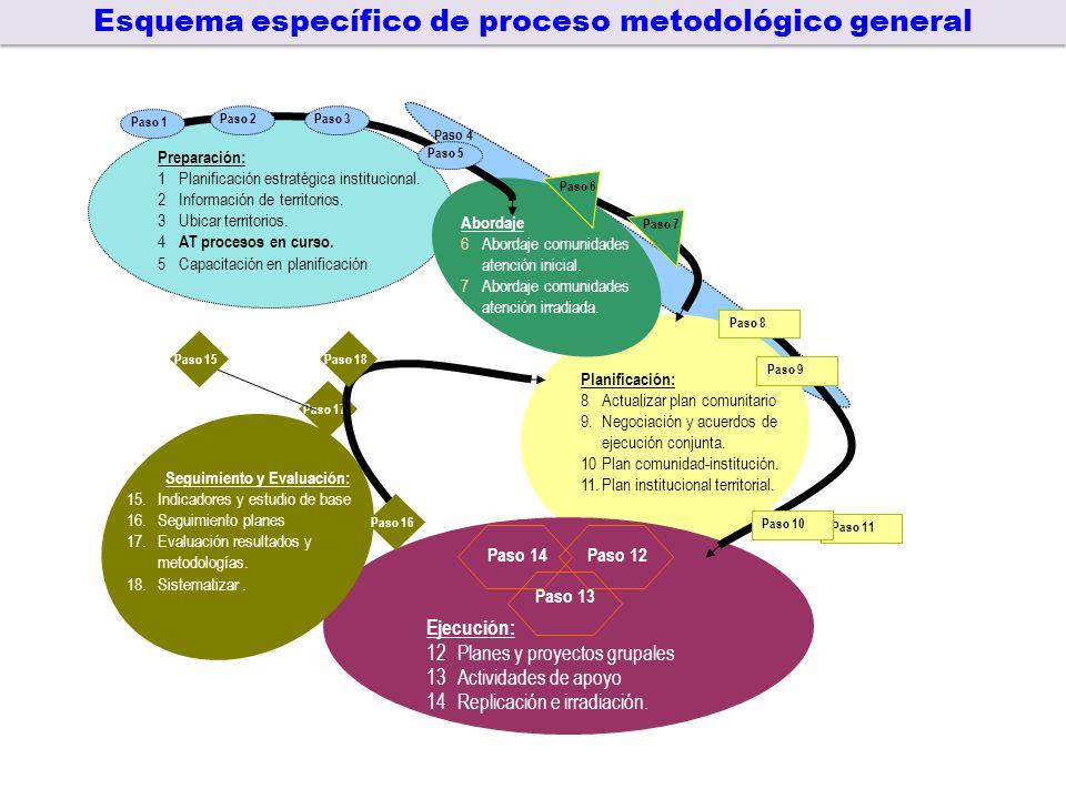 Esquema específico de proceso metodológico general