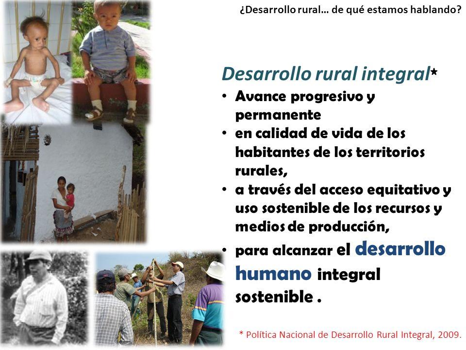 Desarrollo rural integral*