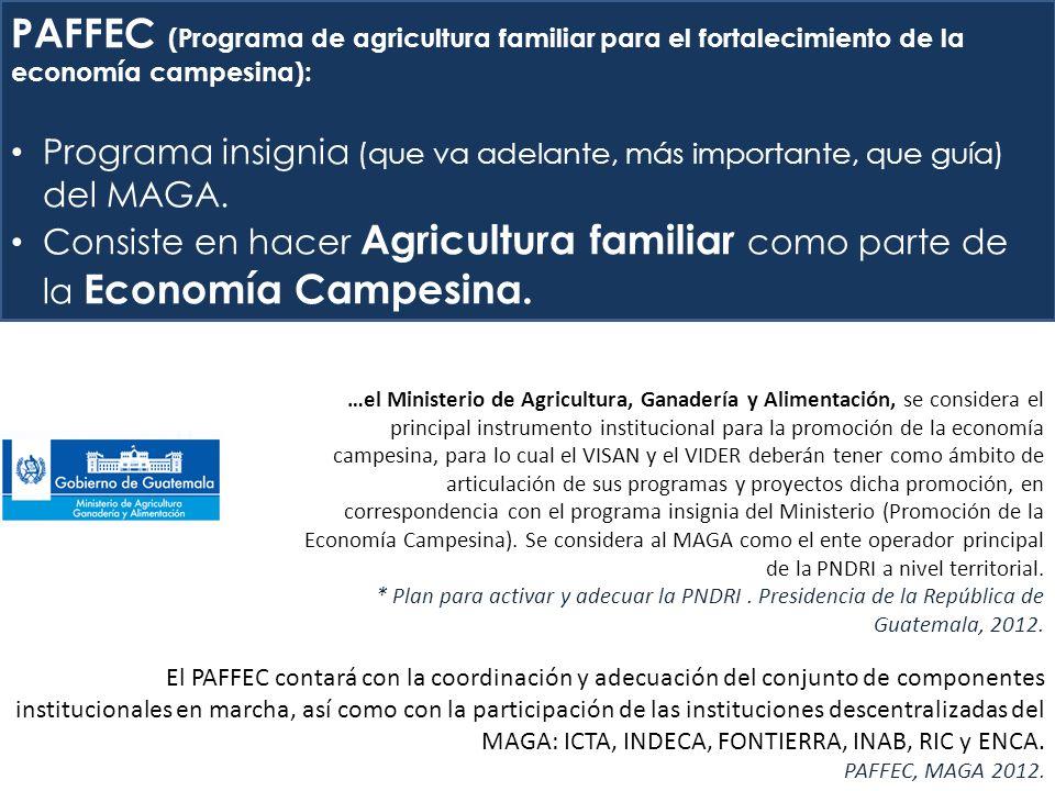 PAFFEC (Programa de agricultura familiar para el fortalecimiento de la economía campesina):