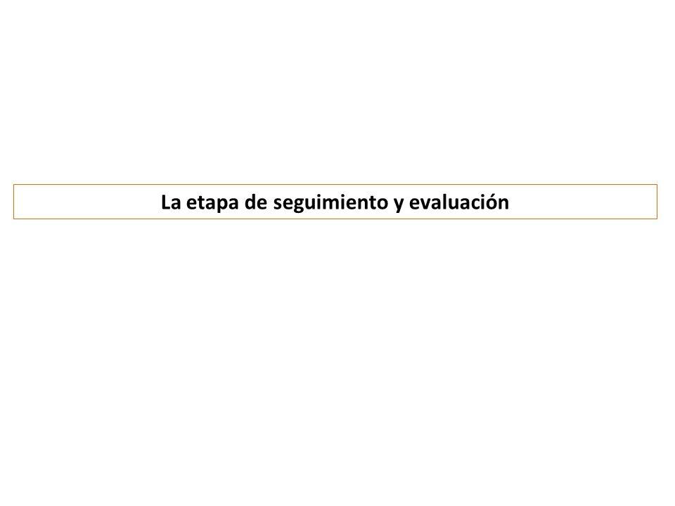 La etapa de seguimiento y evaluación