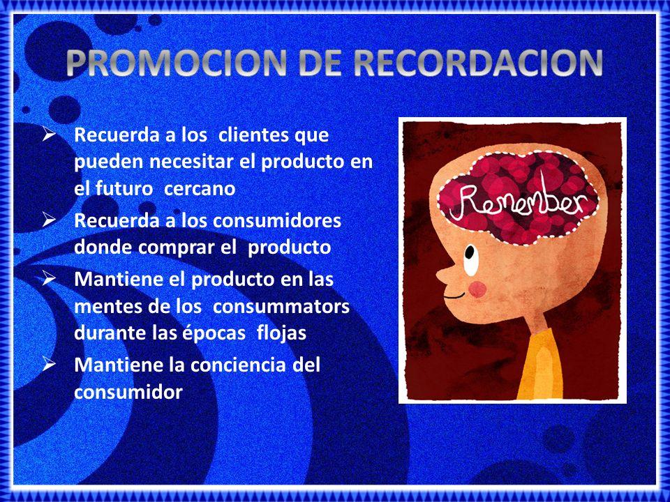 PROMOCION DE RECORDACION