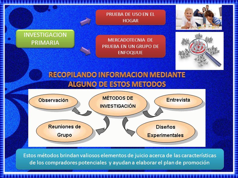 RECOPILANDO INFORMACION MEDIANTE ALGUNO DE ESTOS METODOS