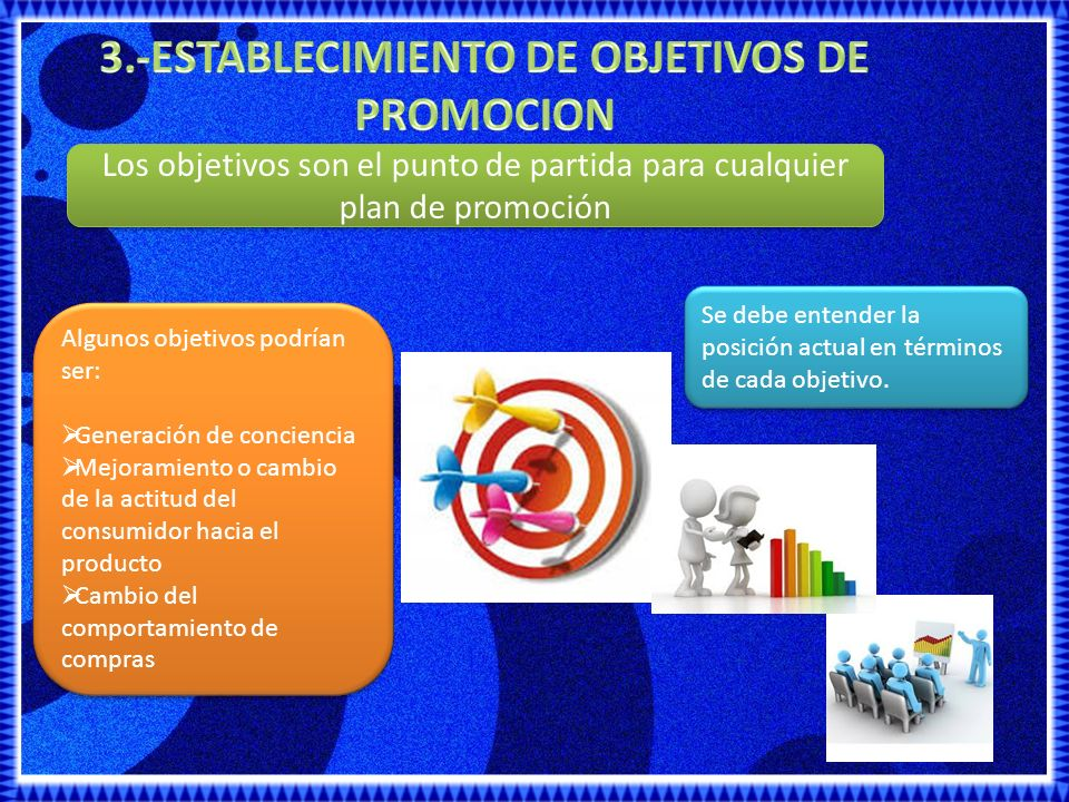 3.-ESTABLECIMIENTO DE OBJETIVOS DE PROMOCION