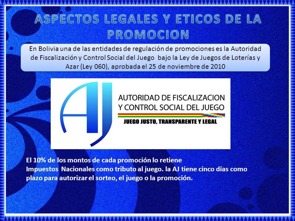 ASPECTOS LEGALES Y ETICOS DE LA PROMOCION