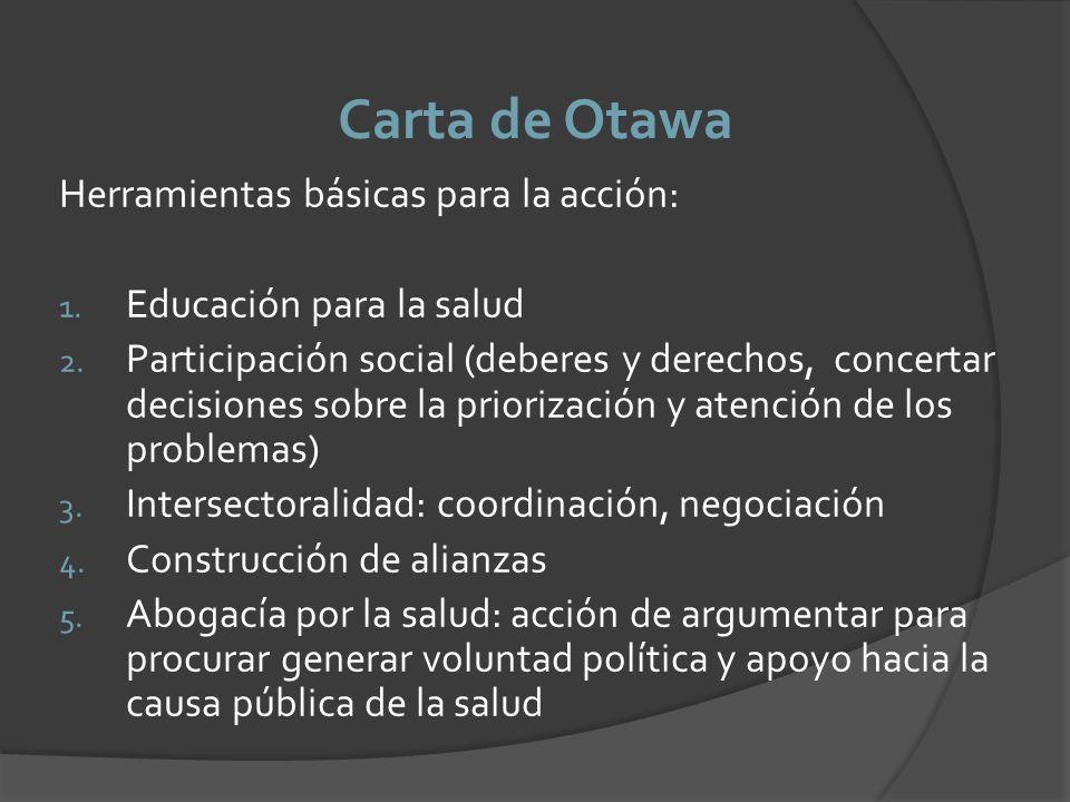 Carta de Otawa Herramientas básicas para la acción:
