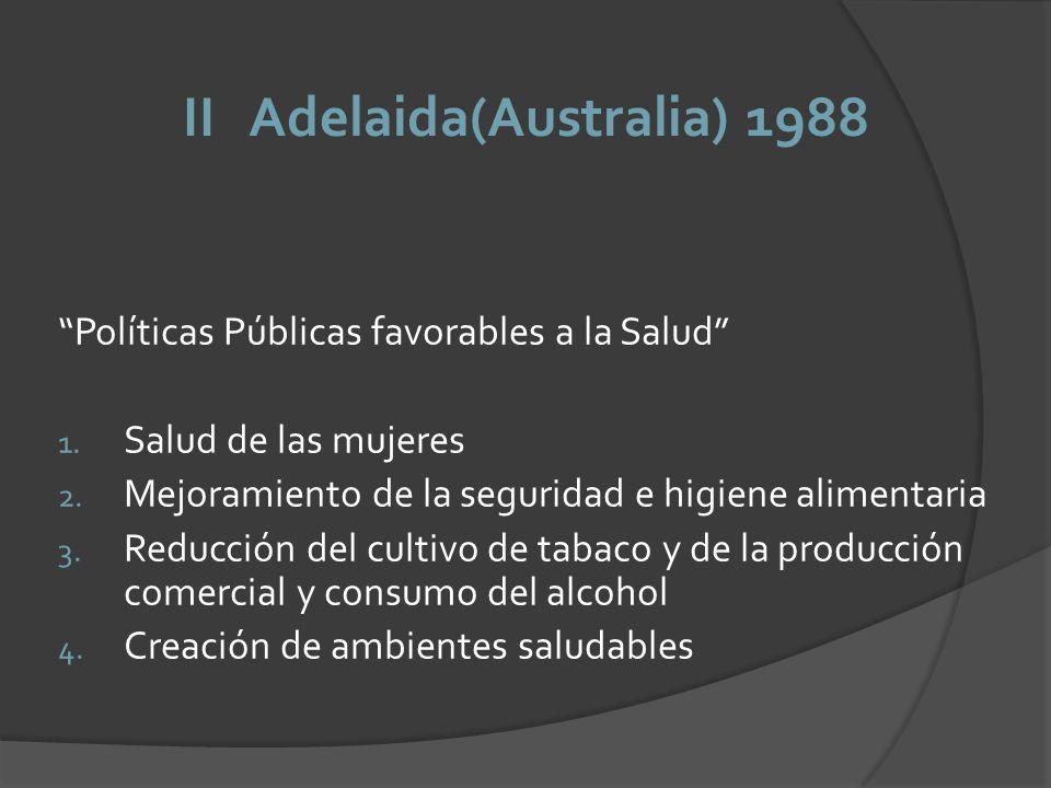 II Adelaida(Australia) 1988