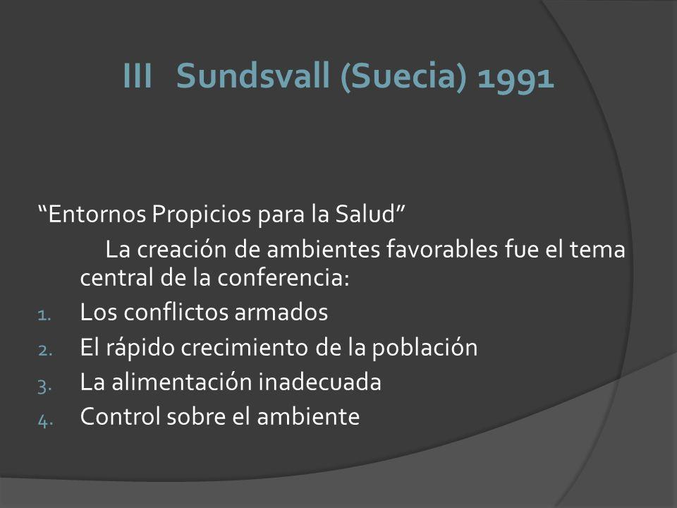 III Sundsvall (Suecia) 1991