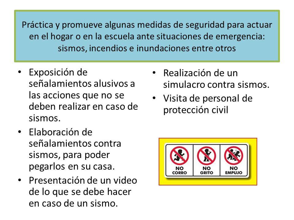 Presentación de un video de lo que se debe hacer en caso de un sismo.