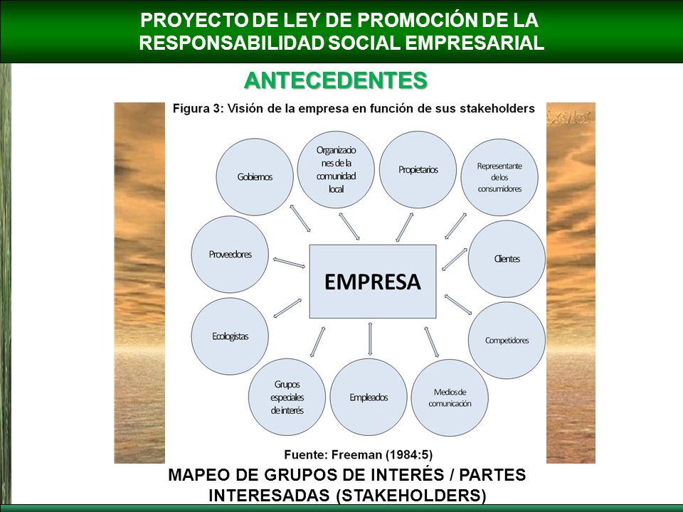 ANTECEDENTES PROYECTO DE LEY DE PROMOCIÓN DE LA