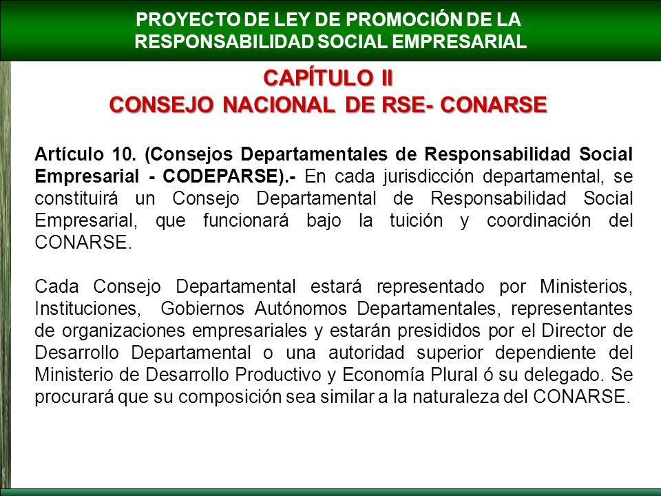 CONSEJO NACIONAL DE RSE- CONARSE