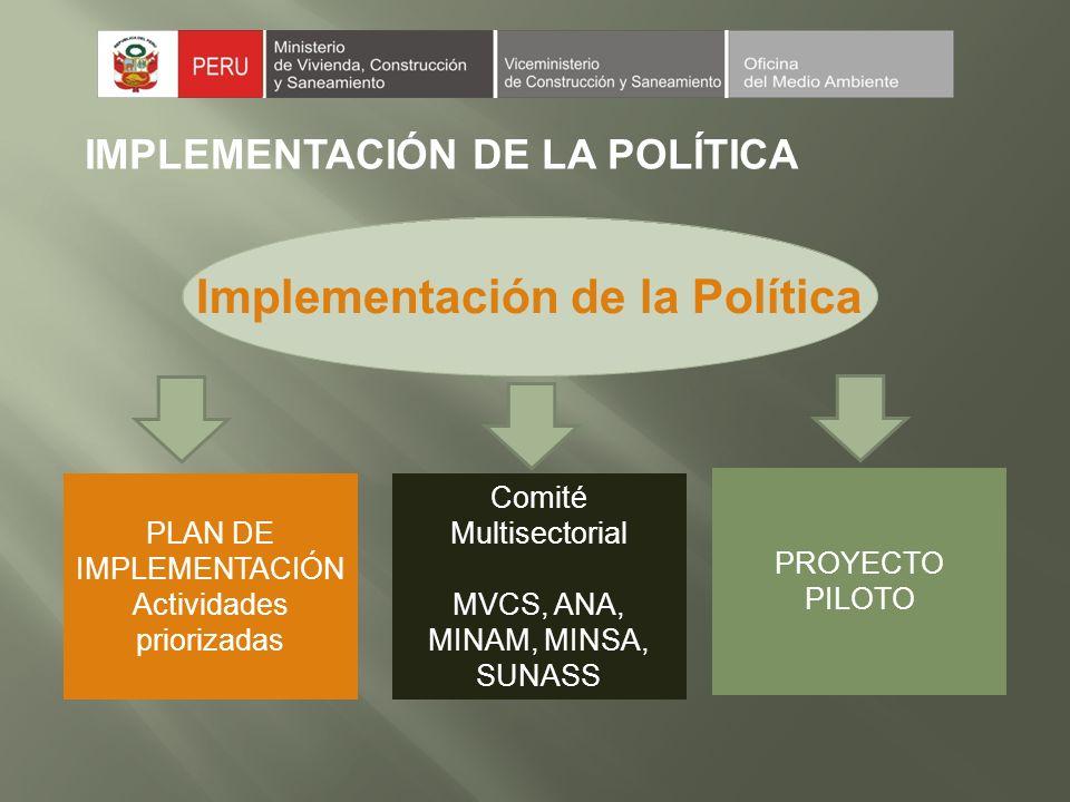 Implementación de la Política